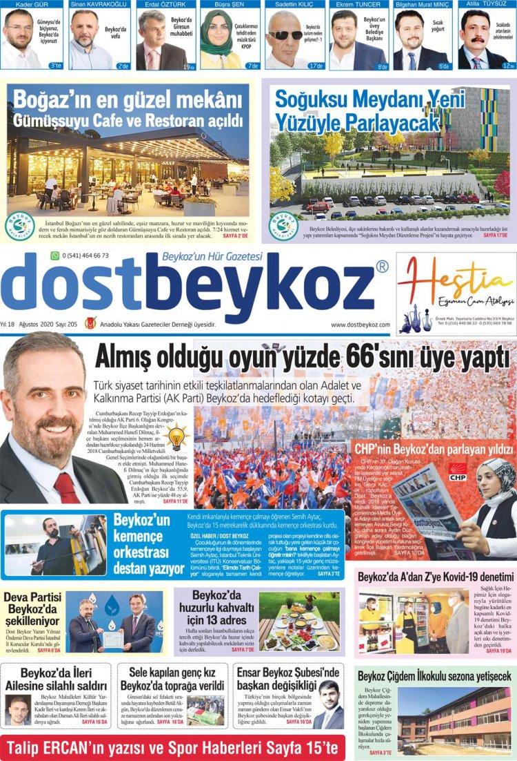 Dost Beykoz Gazetesi Ağustos 2020... 205. Sayı