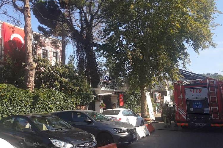Beykoz'da öğretmenevinde yangın alarmı korkuttu