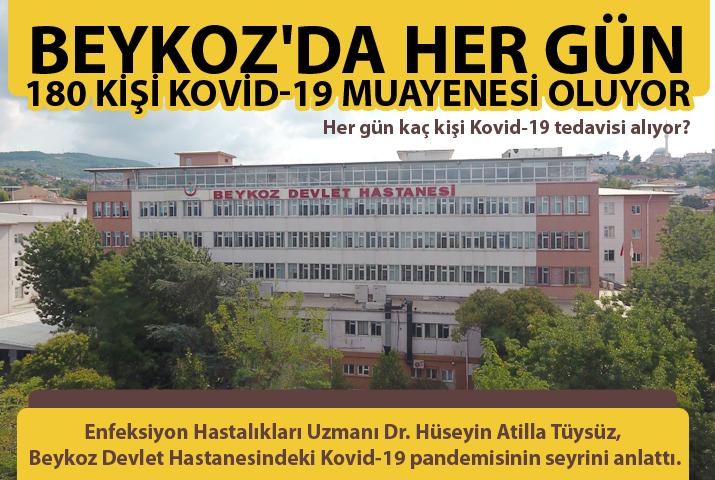 Beykoz'da her gün 180 kişi Kovid muayenesi oluyor