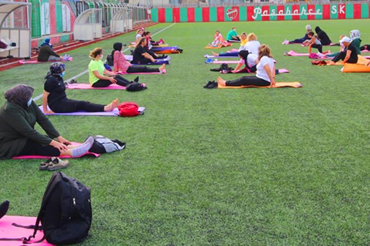 Beykoz Belediyesinden kadınlara özel spor etkinliği