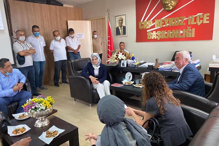 Beykoz Kaymakamından CHP Teşkilatına ziyaret