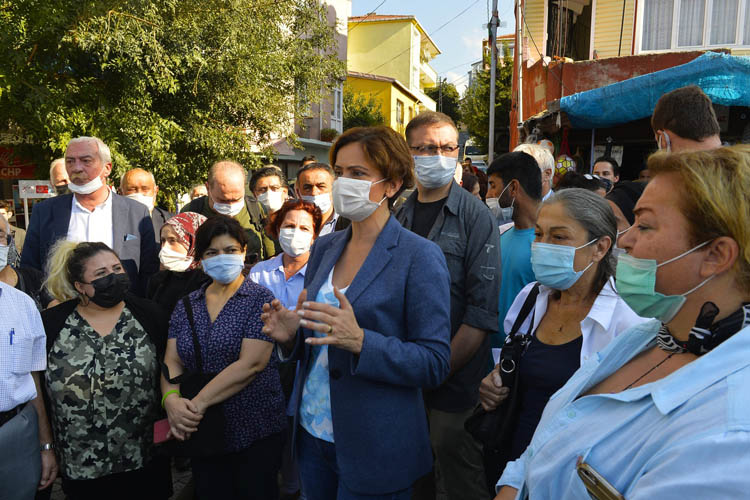 Canan Kaftancıoğlu, Beykoz'da sorunları dinledi