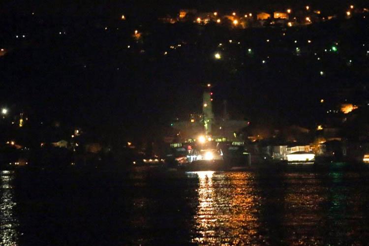 İspanya'ya giden gemi Beykoz önünde arızalandı