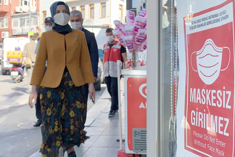 Beykoz Yalıköy'de maske için uyarı gerekiyor