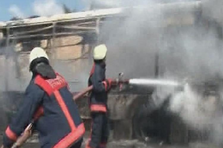 Kavacık'ta Halk Otobüsü yandı... 3 ölü