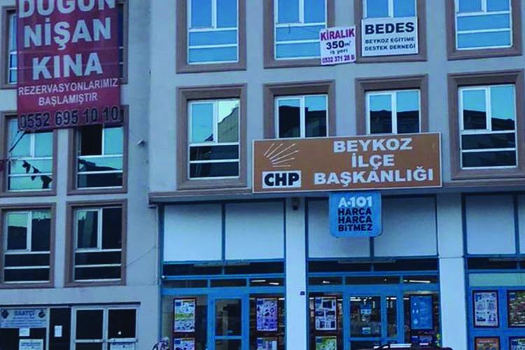 CHP Beykoz İlçe Başkanlığı kapatıldı