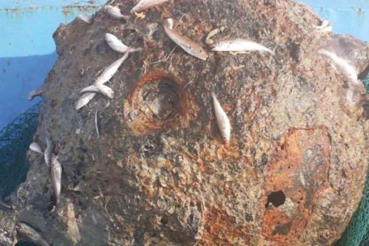 Beykoz açıklarında balıkçı ağına mayın takıldı