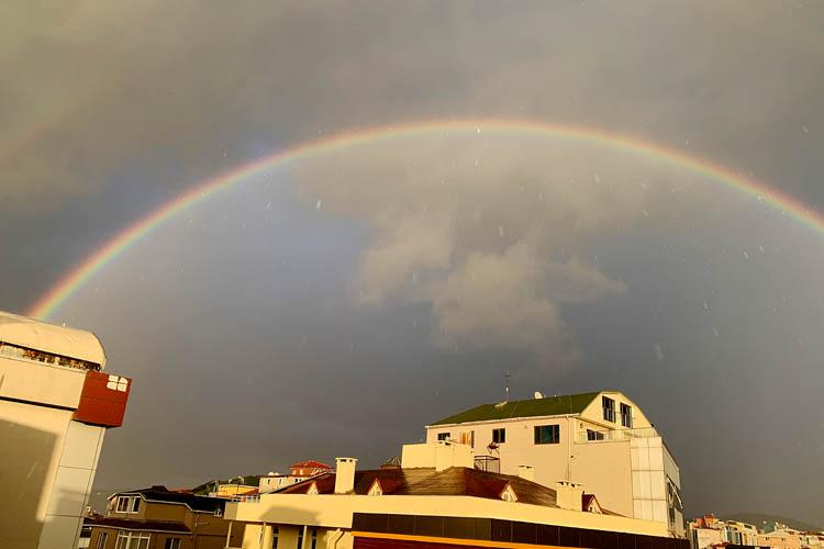 Beykoz'da gök ve yer rengarenk oldu