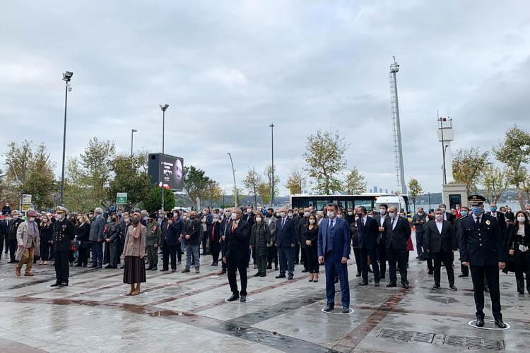 Beykoz'da hayat durdu, Ulu Önder Atatürk anıldı
