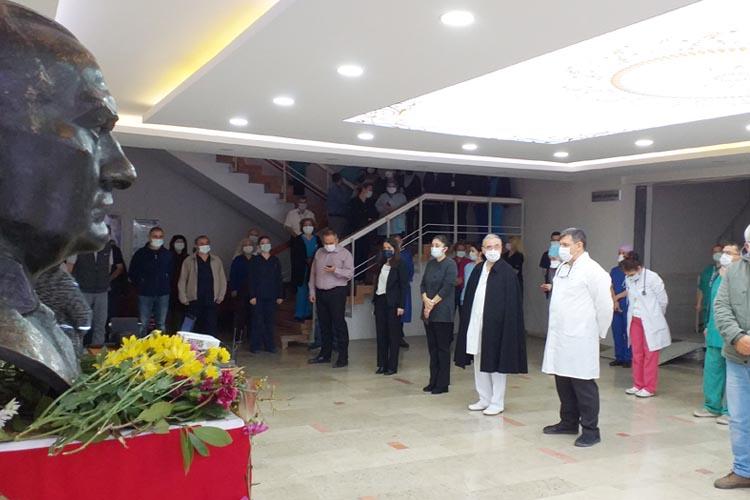 Beykoz Devlet Hastanesi'nde Atatürk saygıyla anıldı