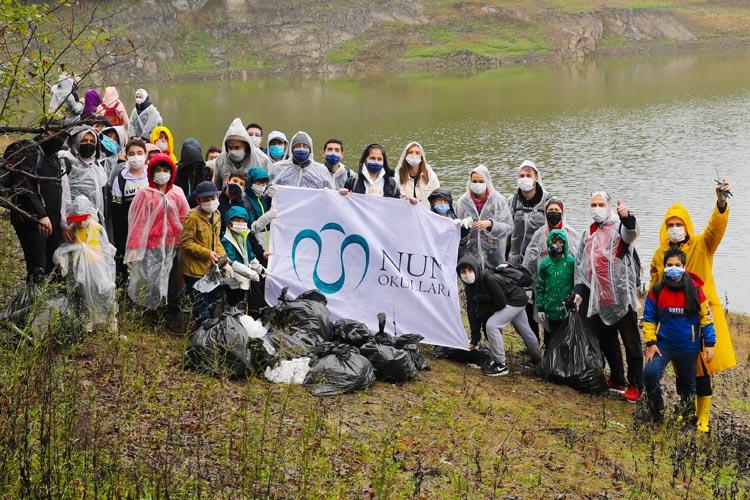 NUN Okullarından Beykoz'a çevre temizliği