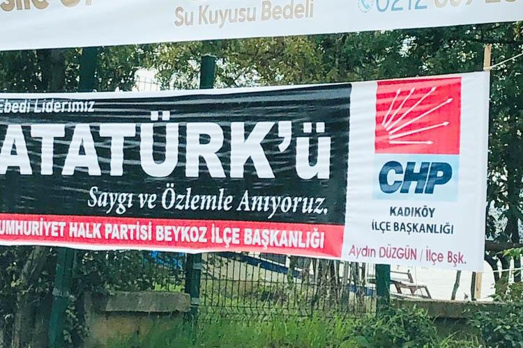 CHP Beykoz pankartlarına Kadıköy sponsorluğu