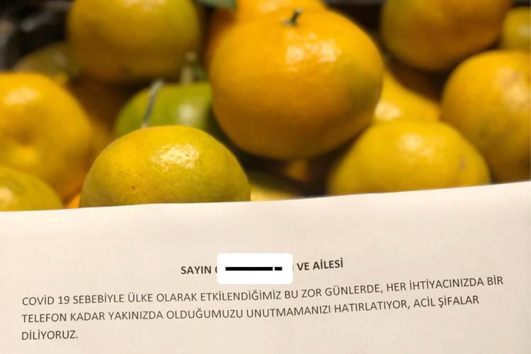 Beykoz Cumhuriyetköy'de Kovid-19 dayanışması