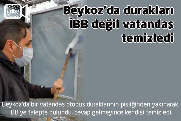 Beykoz'da durakları İBB değil vatandaş temizledi