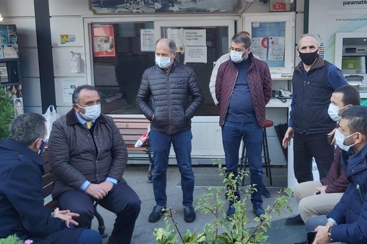 AK Parti Beykoz İlçe Başkanı taksicilerle dertleşti