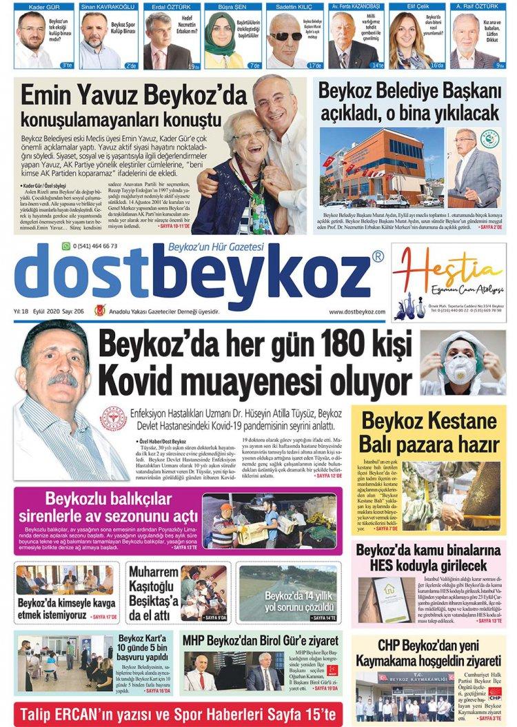 Dost Beykoz Gazetesi Eylül 2020... 206. Sayı