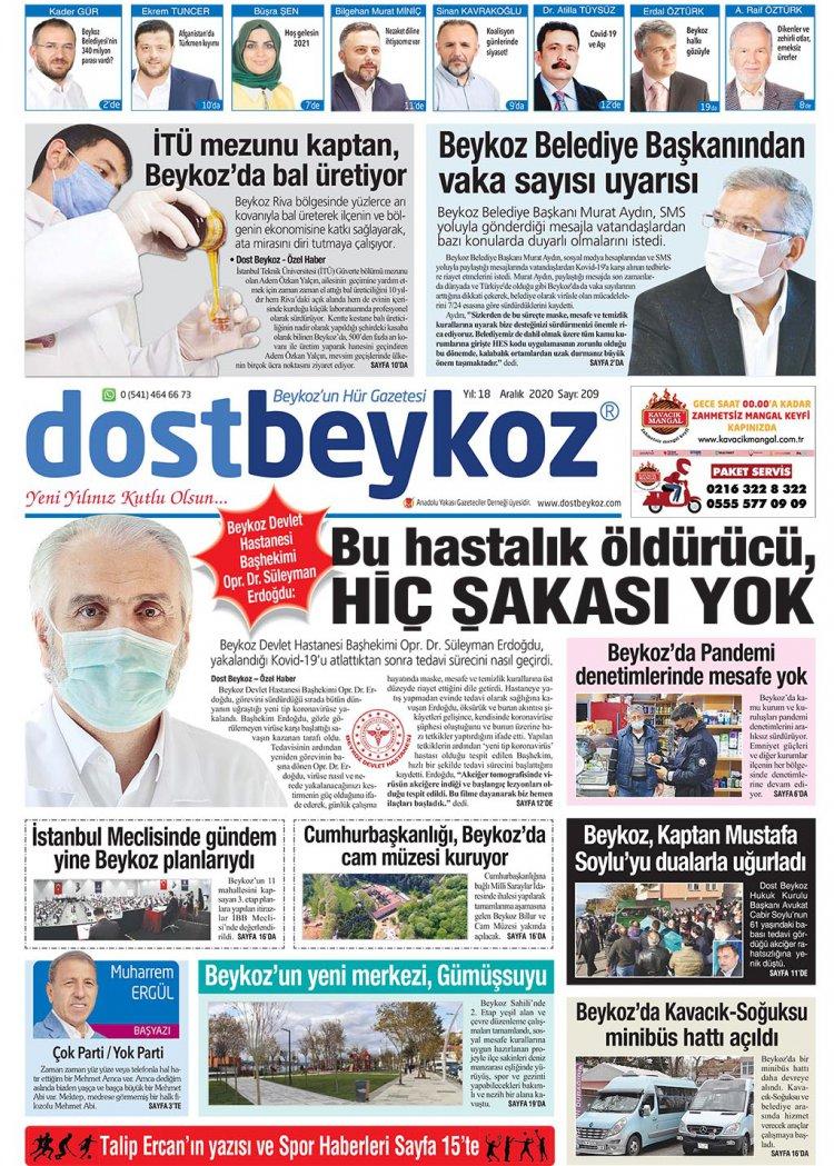 Dost Beykoz Gazetesi Aralık 2020... 209. Sayı
