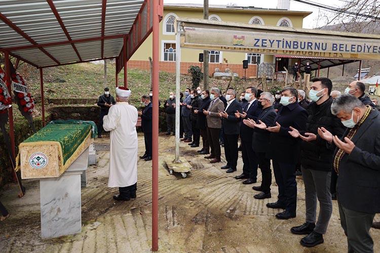 Başkan Murat Aydın'ın annesi ebediyete uğurlandı