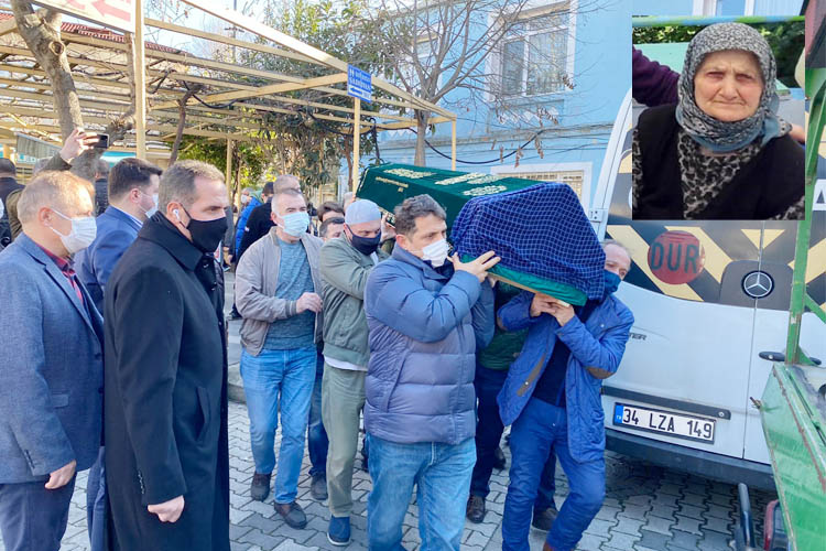 Beykoz'da koç saldırısına uğrayan kadın defnedildi