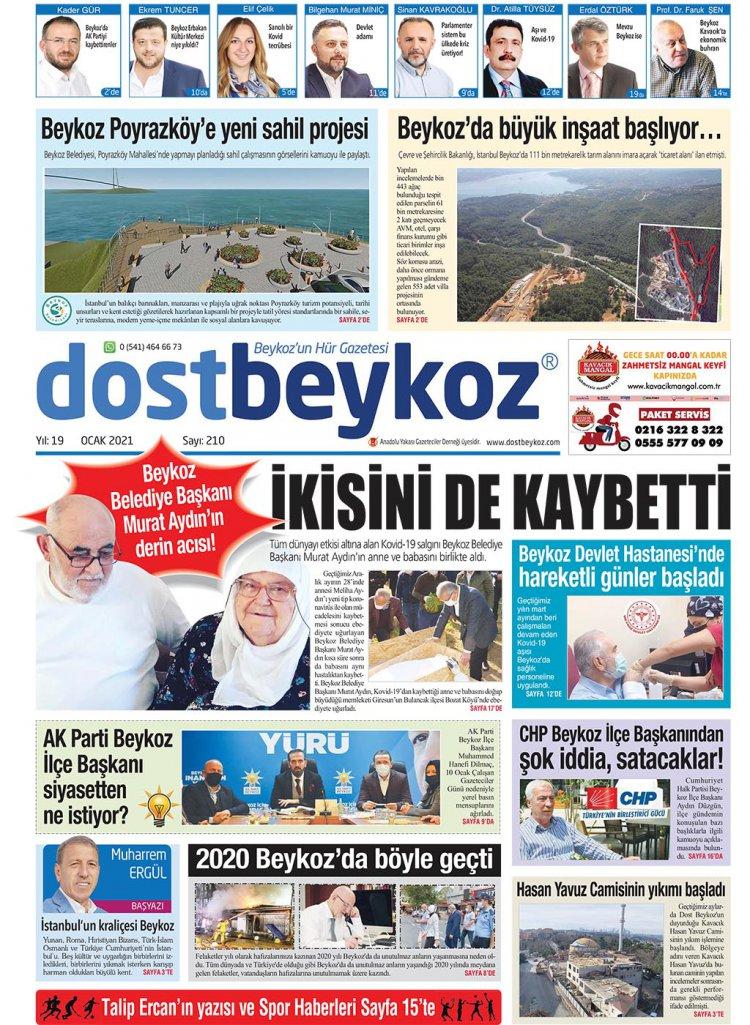 Dost Beykoz Gazetesi Ocak 2021... 210. Sayı