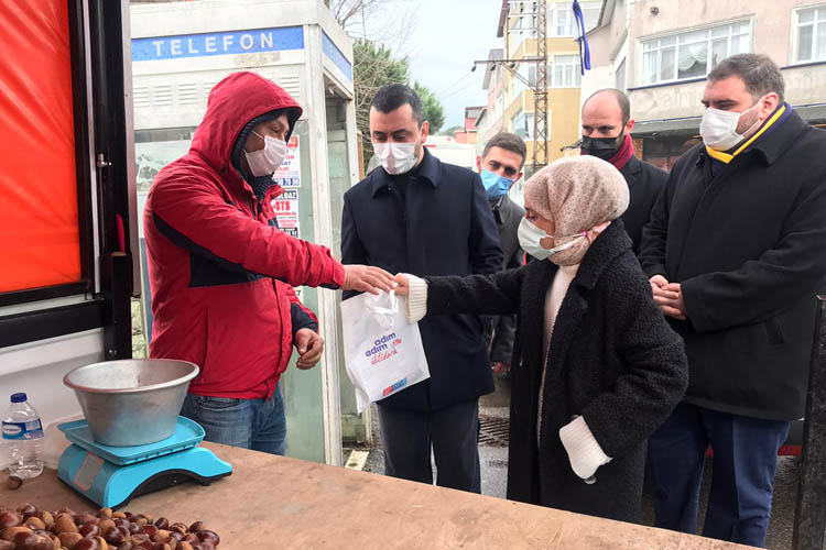 CHP Beykoz'da sokağa indi esnaf kan kustu