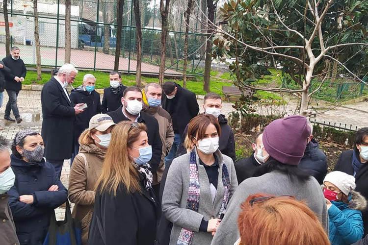 Canan Kaftancıoğlu, Beykoz'da sokağa indi