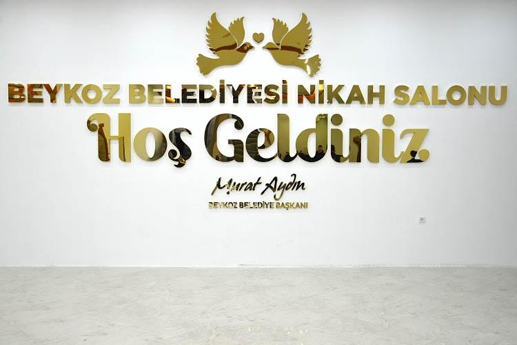 Beykoz Belediyesi'nin yeni nikah salonu açıldı