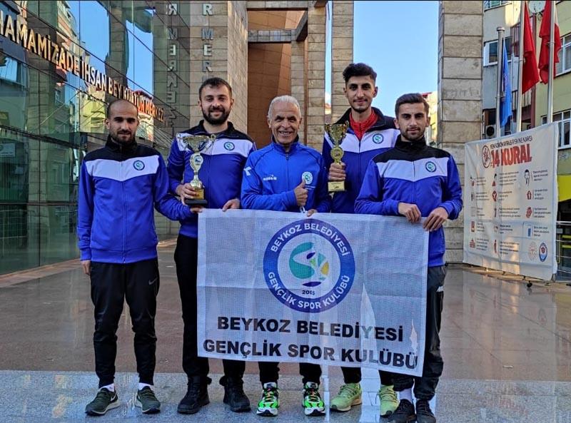 Beykoz'un atletleri Trabzon'dan şampiyon döndü