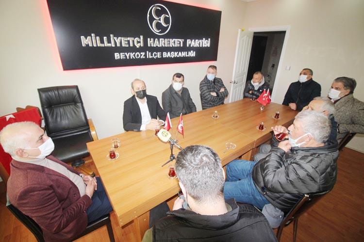 Beykoz Kulüpler Birliği'nden MHP Yönetimine ziyaret