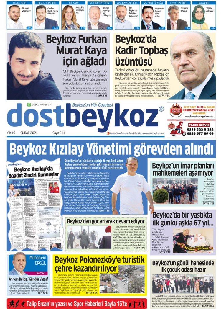 Dost Beykoz Gazetesi Şubat 2021...211. Sayı