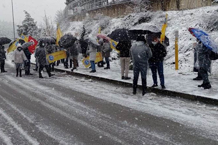 Beykoz'da emekçiler hakkını arıyor