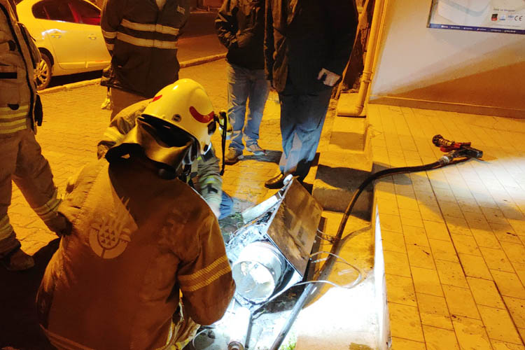 Beykoz Paşabahçe'de yangın hareketliliği