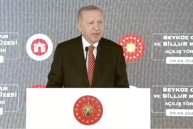 Cumhurbaşkanı Erdoğan Beykoz'da Cam Müzesi açtı