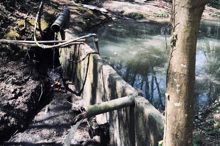 Beykoz'da villaların atık suları 23 yıldır dereye akıyor