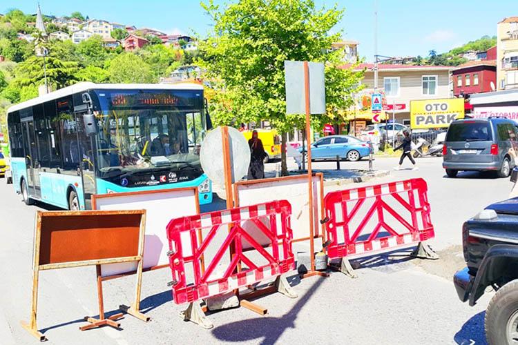 Beykoz'da trafiğe kapanan yollar krize neden oldu