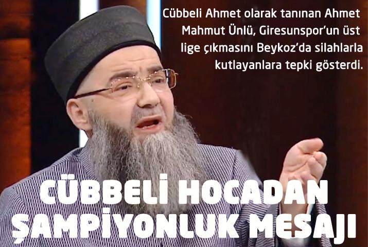 Cübbeli Ahmet'ten Beykoz'da Giresunspor tepkisi