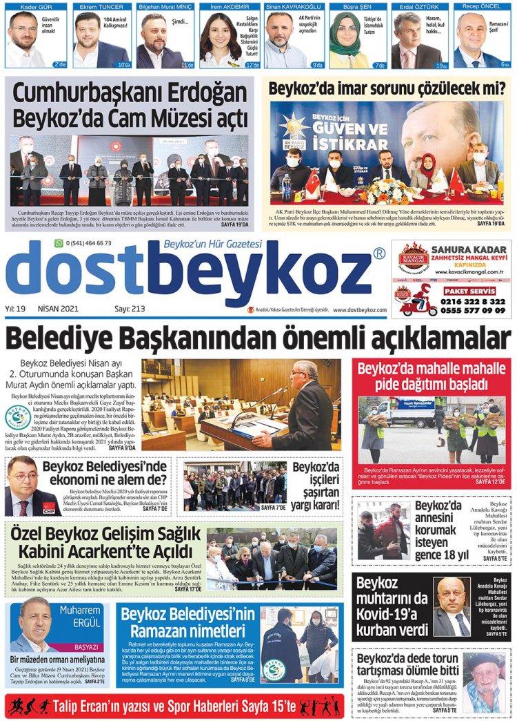 Dost Beykoz Gazetesi Nisan 2021 213. Sayı