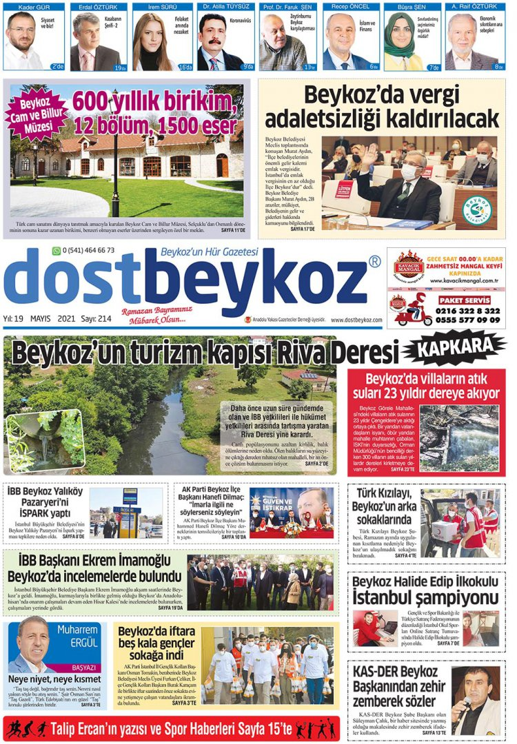 Dost  Beykoz Gazetesi Mayıs 2021      214. Sayı