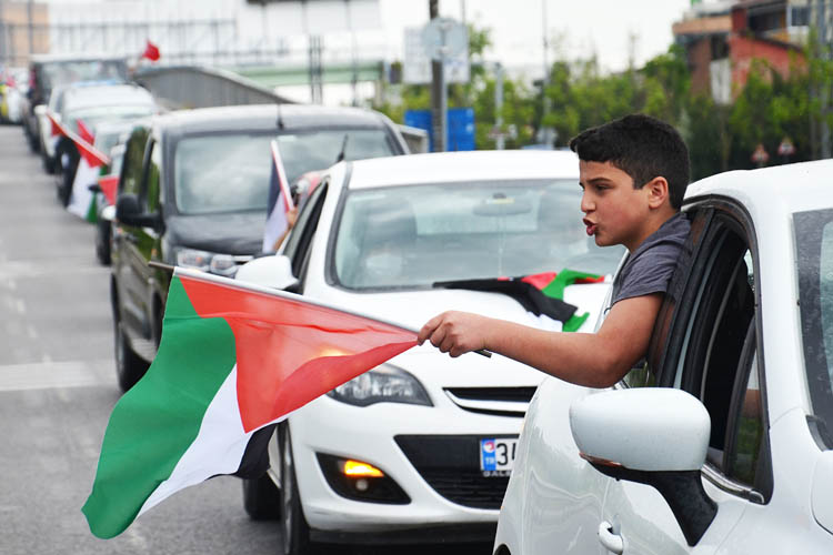 Beykoz'dan Filistin'e destek İsrail'e lanet