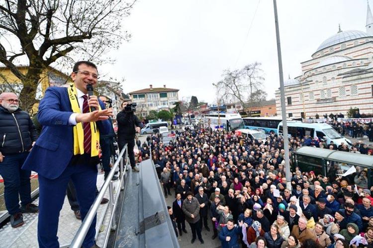 İBB Başkanı İmamoğlu Beykoz'dan video paylaştı