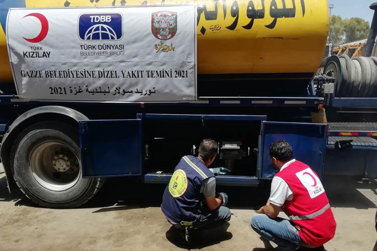 Beykoz Belediyesi'nden Gazze'ye yakıt yardımı