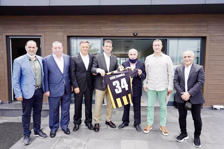 İBB Başkanı Beykoz Spor Yöneticilerini kabul etti