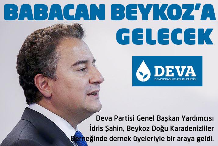 Ali Babacan Beykoz'a gelecek