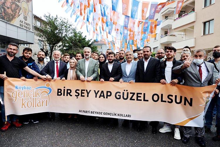 AK Parti İl Başkanı Beykoz'da coşkuyla karşılandı