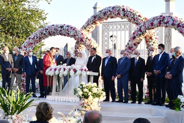 Ankara Valisi'nin kızı Beykoz'da evlendi