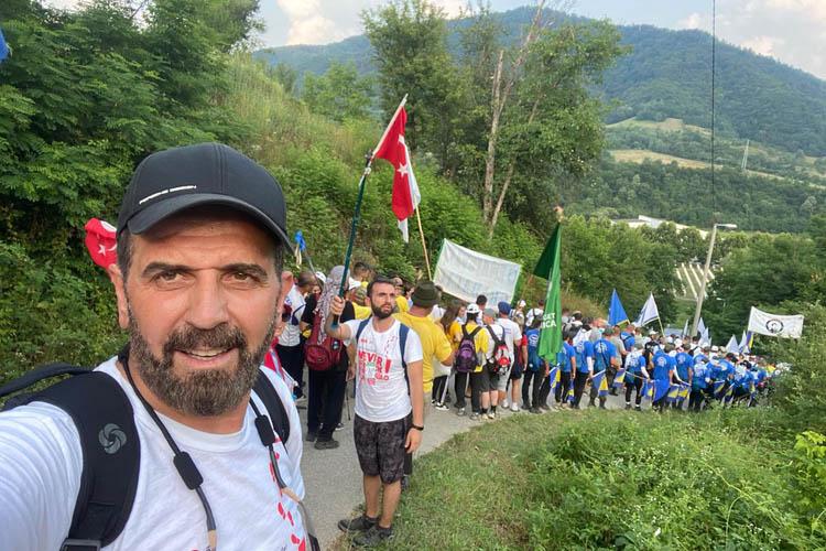 Hanefi Dilmaç, ölüm yolu yürüyüşüne katıldı