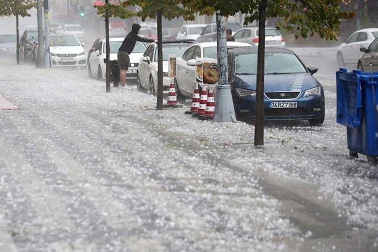 Beykoz'a son dakika dolu ve fırtına uyarısı