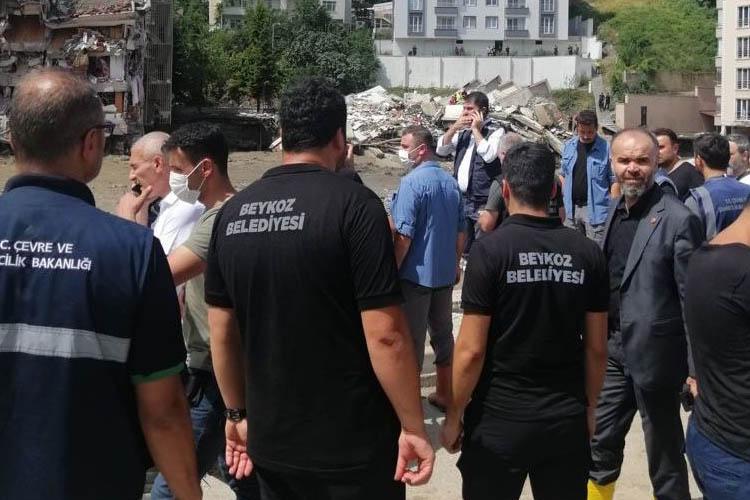 Beykoz arama kurtarma Bozkurt'ta çalışmaya başladı