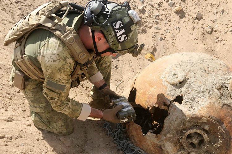 Beykoz'da bulunan mayın imha edildi
