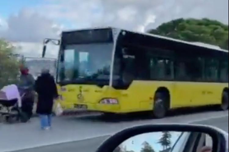 Beykoz'da bozulan otobüs vatandaşa işkence oldu